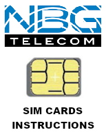 NBG SIM cards instructions