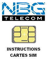 Instructions cartes SIM NBG