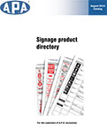 Signage product directory
