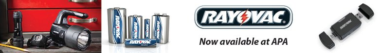 Rayovac now available at APA